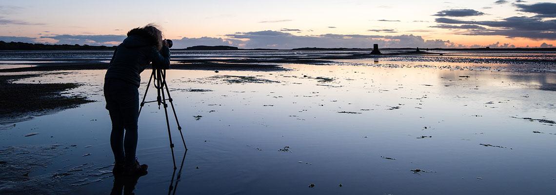 Photographer on location in Sligo, Ireland