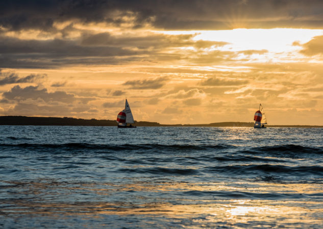 Sailing at Rosses Point in Sligo