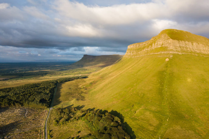 Benbulben and Benwiskin in Sligo