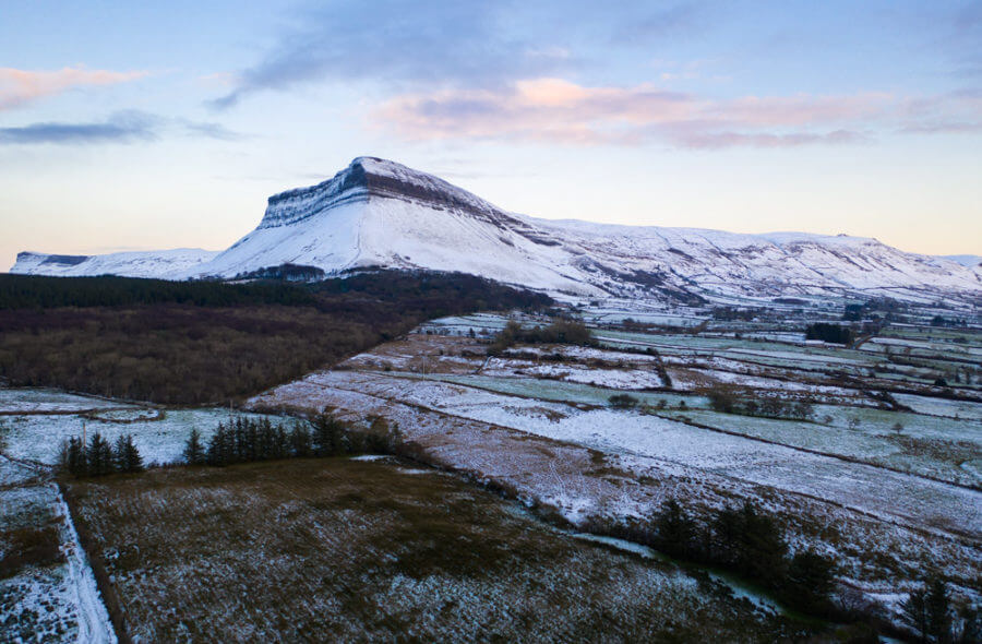 Benbulben under snow
