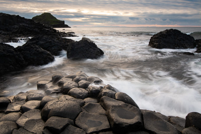 Giants Causeway at sunset