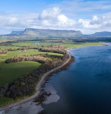 Aerial view of Lissadell to Benbulben