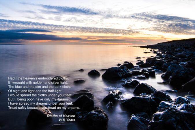 The Cloths of Heaven, Strandhill, WB Yeats