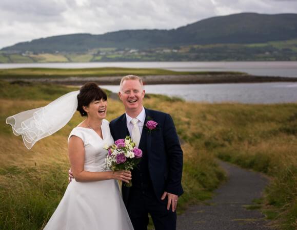 Wedding couple at the coast