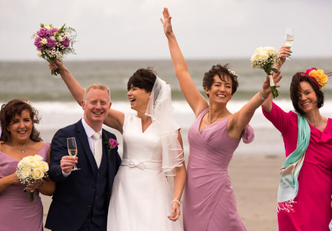 Wedding celebration on a beach